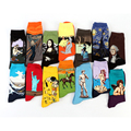 Free Shipping Fashion Art Cotton Crew Socks Painting Character Pattern for Women Men Harajuku Design Sox Calcetines Van Gogh