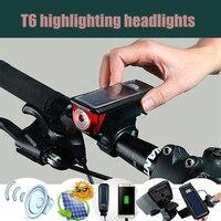 Rower róg USB Zasilany Energią Słoneczną Światła lampy LED Akumulator 2000 mAh Lampy Ostrzegawcze Taillight Bezpieczeństwo Noc Światła Wodoodporna Jazda Na Rowerze