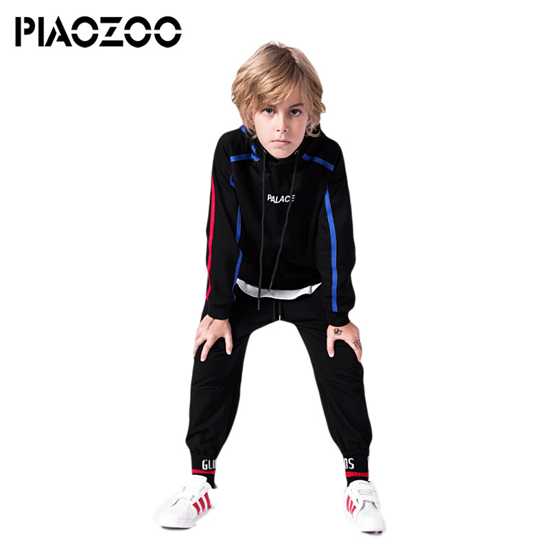 Long sleeve pullover tops for toddlers boys winter swestshirt tops letter print hood baby boy kids black hoodies teenagers P20 stylish long sleeve letter print tassel design sweatshirt pants twinset for boys