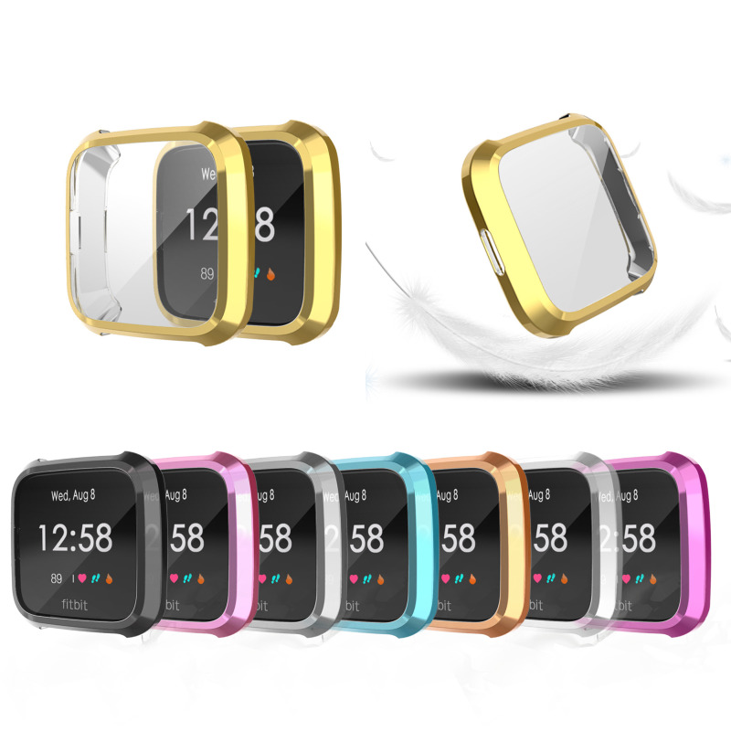 8 Colors Soft Tpu Watch Case Cover Screen Protector Watch Shell Smartwatch Accessories For Fitbit Versa Lite Band