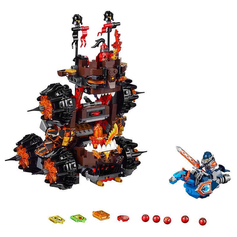 ФОТО LEPIN Nexo Knights Axl General Magmars Siege Machine of Doom Marvel Building Blocks Kits Toys  Compatible Legoe Nexus