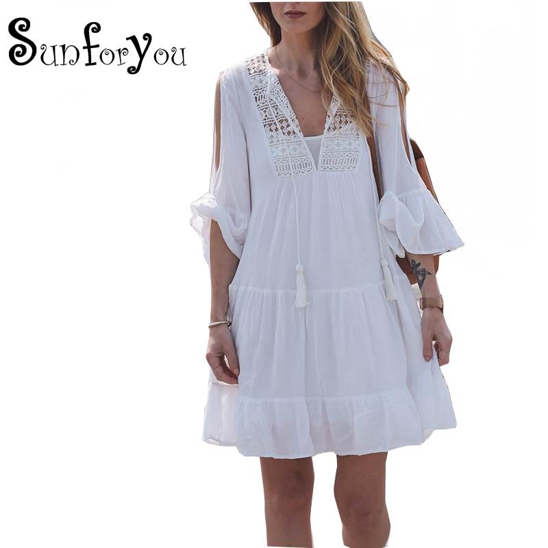 Cotton Bathing Suit Cover Ups Loose Beach Dress Sarong Crochet Swim Suit Cover Up Beach Cover Up Pareo Women Swimwear Dress