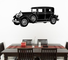 Free shiping Removable 1957 Chevrolet Sedan Classic Car Vinyl Wall Sticker Home Decor Decal Art Curved Mural Bedroom Paper