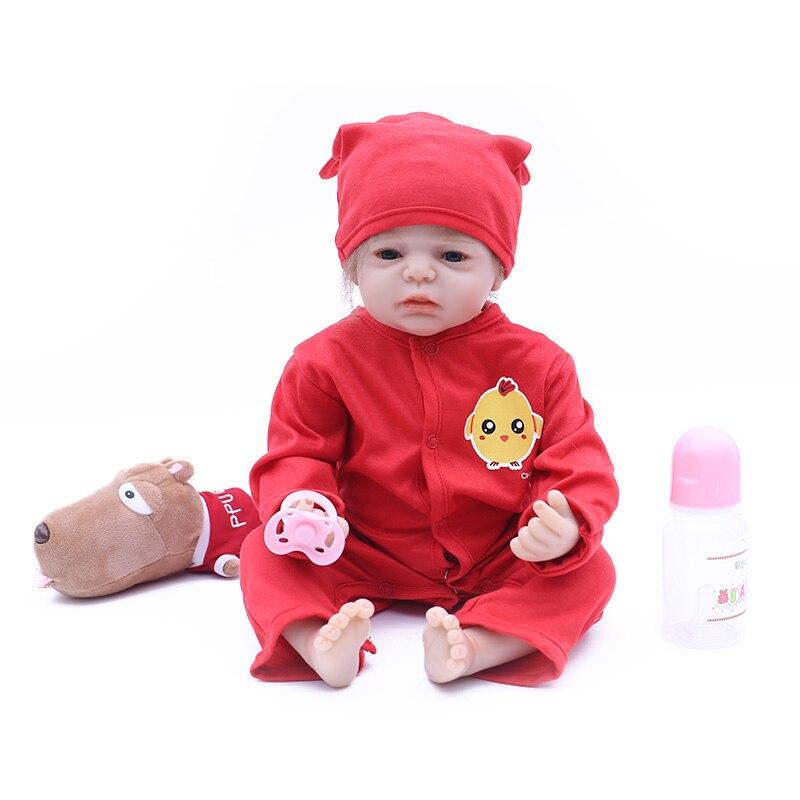 NPK Boneca Reborn 20inches Soft Silicone Vinyl Dolls 50cm Soft Silicone Reborn Baby Doll Newborn Lifelike Bebe Reborn Dolls