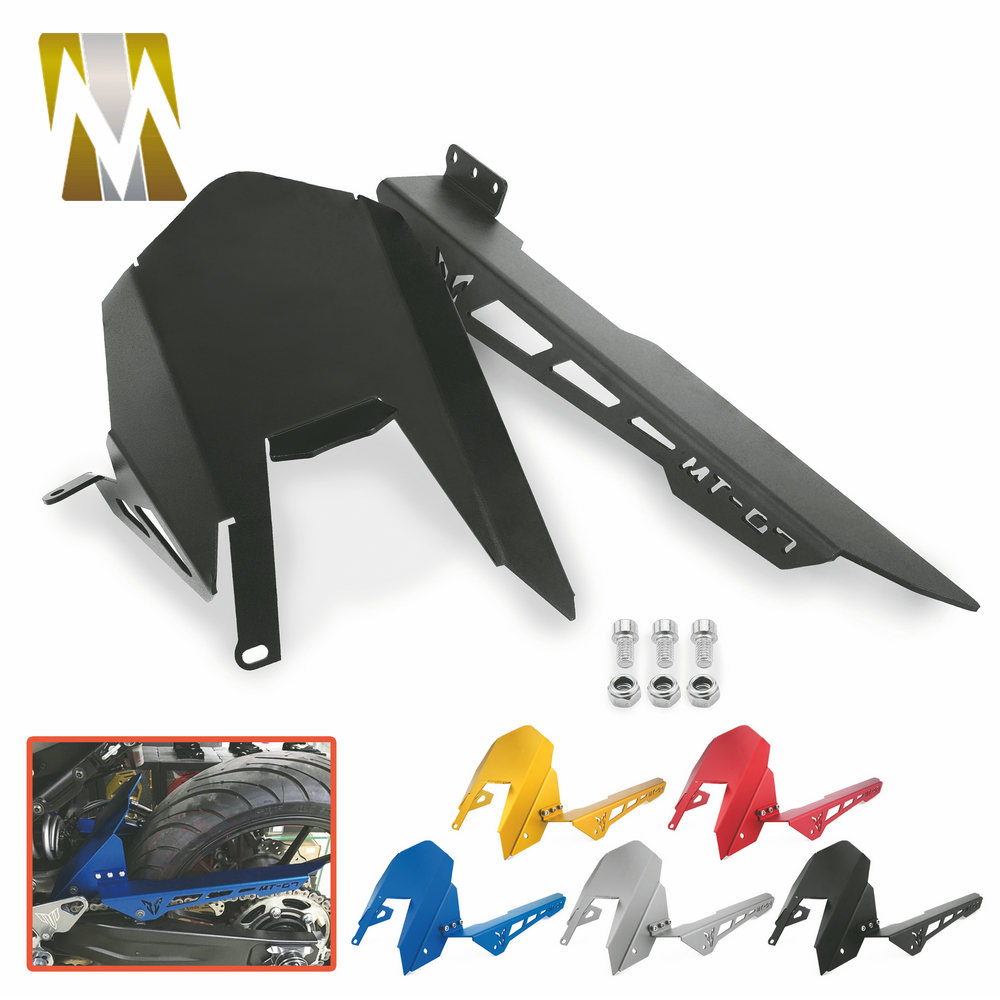 цены Motorcycle Rear Tire Hugger Fender Mudguard For Yamaha FZ07 FZ-07 MT07 MT-07 mt 07 2013 2014 2015 2016 2017 Chain Guard Cover
