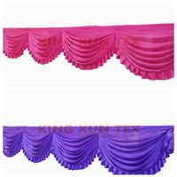 New Design Ice Silk Swag Drape Valance Fir For Backdrop Curtain Wedding Stage Background Decoration