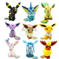 eevee plush toy 9 pcs/set 17-21 cm  plush set stuffed Sylveon Eevee Espeon Jolteon Vaporeon Flareon Glaceon toys