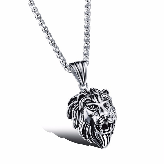 Never Darken Titanium Steel Designer Jewelry Gold Color Lion Head