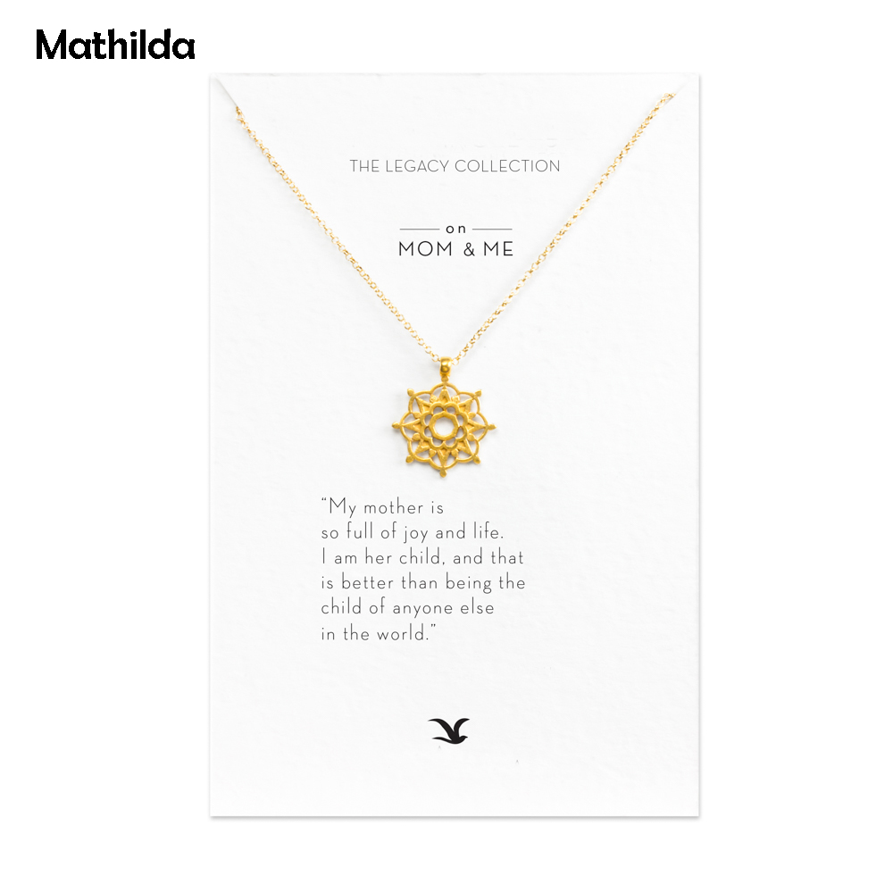Sparkling Mom & Me Necklace Gold Dipped Necklace Clavicle Chain Statement Necklace Mother's Days Gift Women Jewelry E041