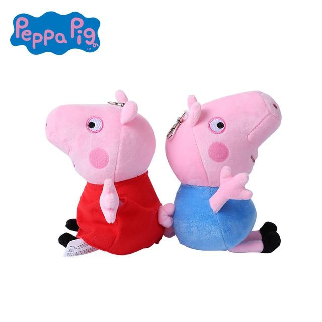 Genuine 13/19 CENTÍMETROS Brinquedos PEPPA PIG plush Toys peppa george Venda quente crianças de Alta Qualidade Brinquedos de pelúcia no atacado