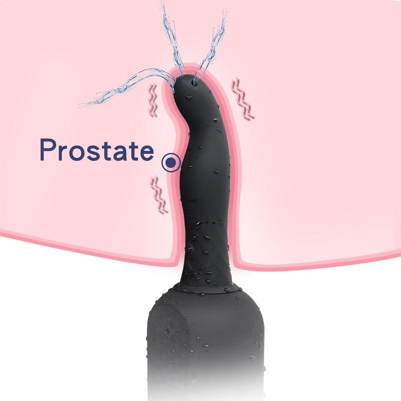 New Anal Plug Enema Vibrator 10 Speeds Silicone Prostate Massager Beads Cleaner Vibration Anal Dilator Anus Vaginal Masturbator in Vibrators from Beauty Health
