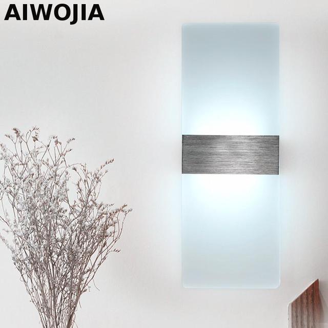 Applique Da Parete moderno Quadrato Ha Condotto La Lampada Lampadari ...