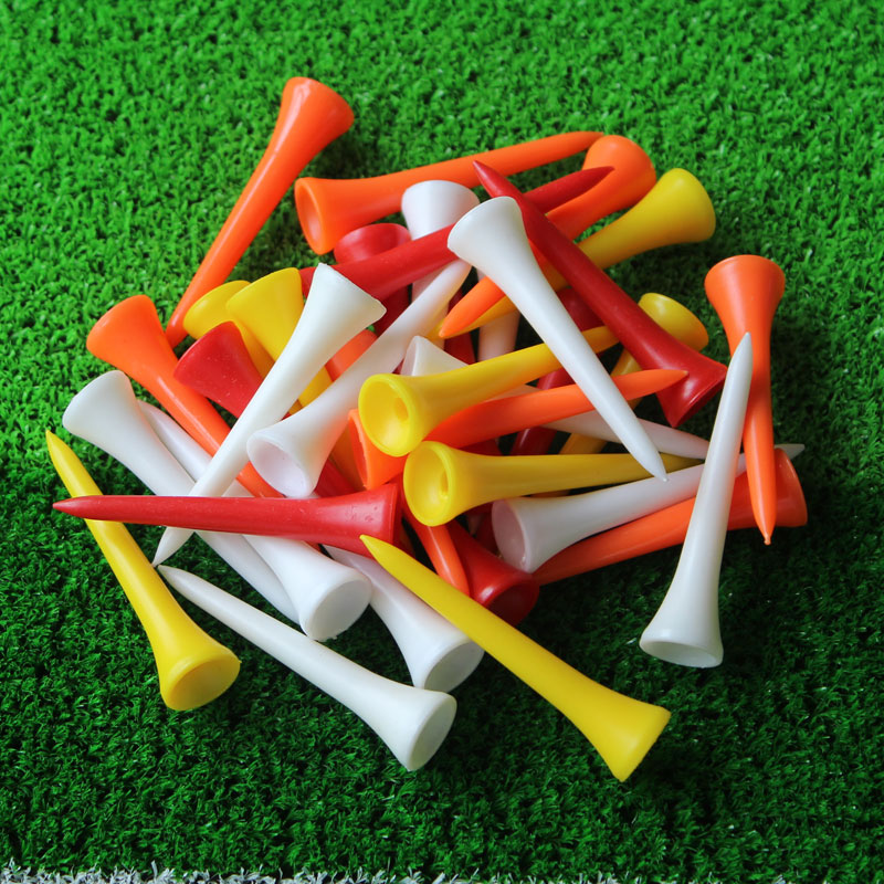 Free Shipping New Arrival 100Pcs/lot 54mm Mixed Color Plastic Golf Tees, Golf Tee, Golf Accessories