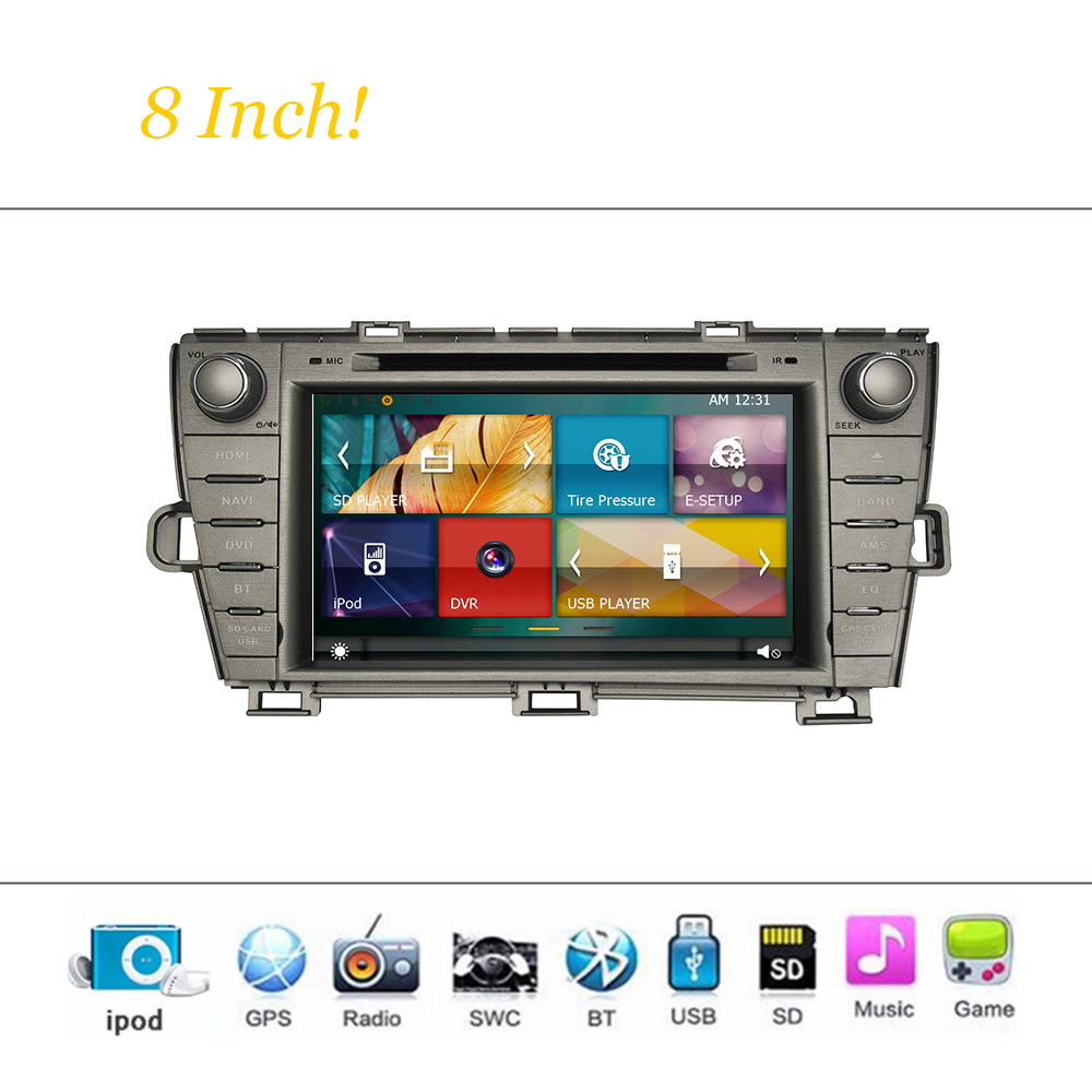 car dvd player system for toyota prius 2009 2013 autoradio. Black Bedroom Furniture Sets. Home Design Ideas