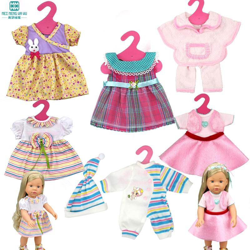 Doll Clothes For Dolls 16 Inch 40 Cm Anna Elsa Salon Dolls Toys For Girls Dress
