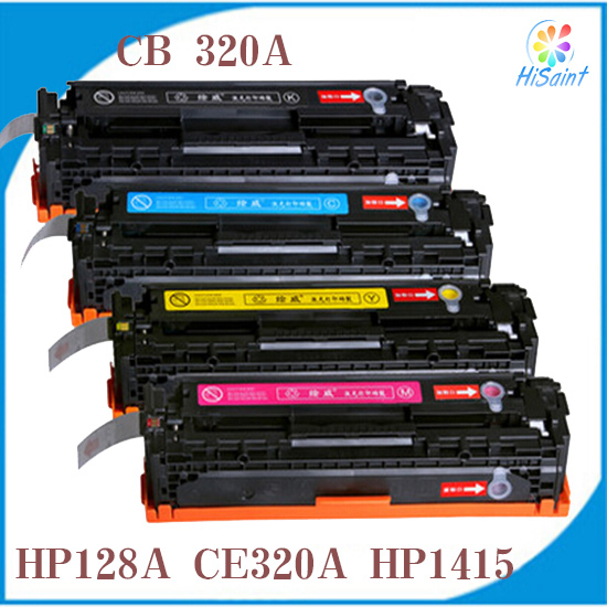 New Compatible HP Printers CE320A CE321A CE322A CE323A Color Toner Cartridges for LaserJet CP1525 CM1415 Kompatibilni Tonerove(China (Mainland))