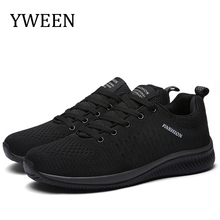 YWEEN New Lace-up Men Shoes Mesh Men Cas