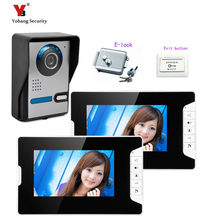Yobang Security 7″Video Monitor The Doorbell  Phone The Doorbell Video Intercom bell Doorbell Night Vision  Camera+Electric lock