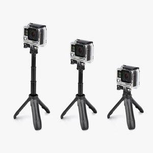 Image 2 - Vamson dji OSMO アクション拡張可能なハンドル三脚ポケットポールミニ Selfie スティック移動プロヒーロー 7 6 5 黒 xiaomi 李 VP421