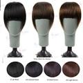 100% Brasileira virgem remy extensão do cabelo humano clipes em/sobre Discrição blunt bangs cabelo 4 cores