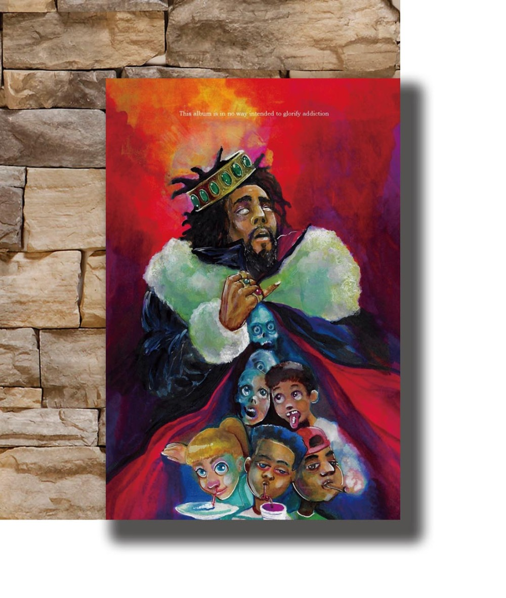 J Cole KOD Album Cover Poster 24 X 36