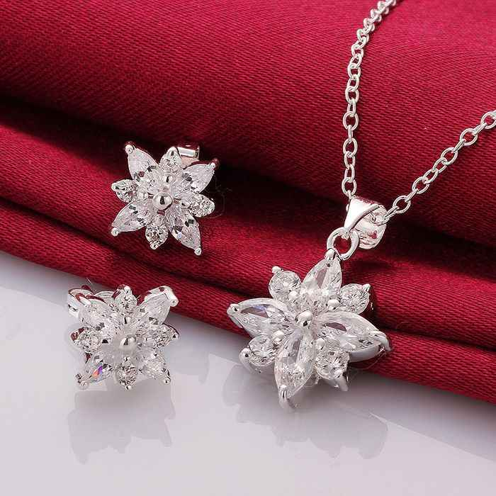 S749 925, jewelry silver plated   jewelry set, fashion jewelry set Earring 546 Necklace 581   /gwmapnta hieapzla