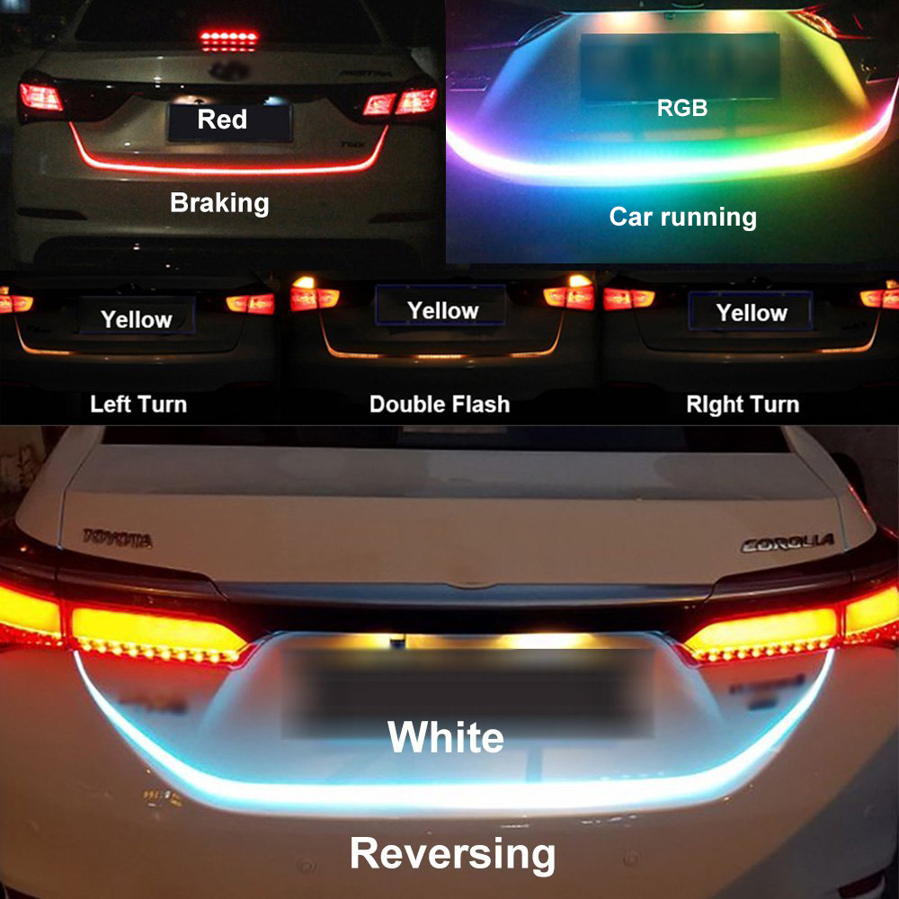 SITAILE Led 12v Truck Rear Tail Lights Led Lamp Auto Strip Lighting Turn Signal drl Running Light Led Warning Light Car-styling lyc headlights auto day running light kit truck light parts led lights car 6000k 7 inch led round 1800lm lamp car styling