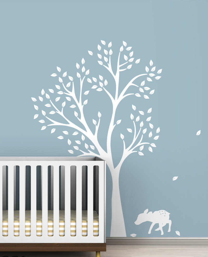 Wall Decals White Tree