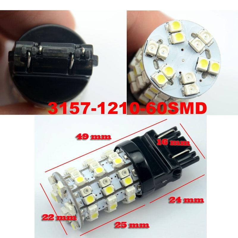 AutoEC 30x T25 3157 3528 60 SMD двойной Цвет светодиодная Автомобильная Поворотная сигнальная лампа 1210 3057 3057A 3057LL 3155 Белый Янтарь 12 V# LE02