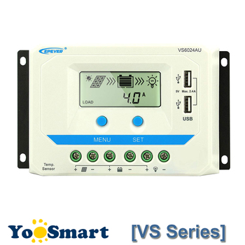 EPever 10A 20A 30A 45A 60A Контроллер заряда 12 V 24 V Авто VS1024AU VS 2024AU VS3024AU VS4524AU VS6024AU ШИМ Rregulators >> Yoosmart Store