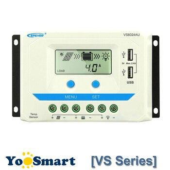 цена на EPever 10A 20A 30A 45A 60A Solar Charge Controller 12V 24V Auto VS1024AU VS 2024AU VS3024AU VS4524AU VS6024AU PWM Rregulators