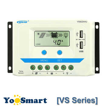 EPever 10A 20A 30A 45A 60A Solar Charge Controller 12V 24V Auto VS1024AU VS 2024AU VS3024AU VS4524AU VS6024AU PWM Rregulators - DISCOUNT ITEM  58% OFF All Category