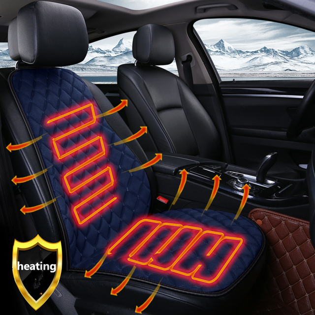 2018new 12V 24V Electric Heated Car Seat Cushion Cover Warmer Heating Pad