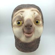 Animation Sloth Horror Funny Headgear Masks Halloween Crazy Animal City Nick Latex Mask