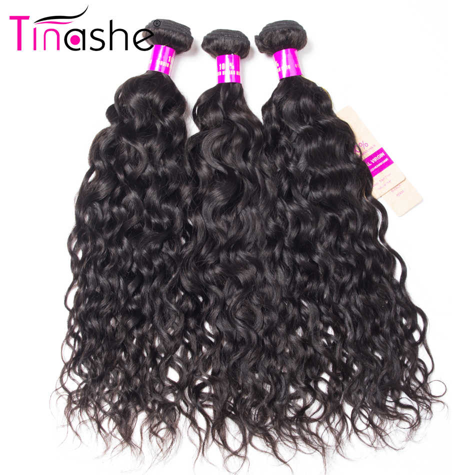 Tinashe Hair Brazilian Hair Weave Bundles Remy Human Hair 3 Bundles 10-28 Inch Can Be Bleached Natural Color Water Wave Bundles