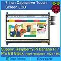 7 Polegada 1024*600 LCD Monitor HDMI com IPS Tela de Toque Capacitivo Monitor para Raspberry Pi 3B/Pi 2B/B +/Pcduino Pi De Banana