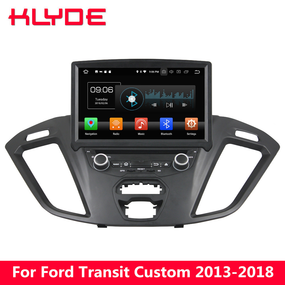 KLYDE 8 4G Android 8 Octa Core 4G B Оперативная память 32 ГБ Встроенная память RDS dvd плеер автомобиля радио для ford Transit Custom 2013 2014 2015 2016 2017 2018