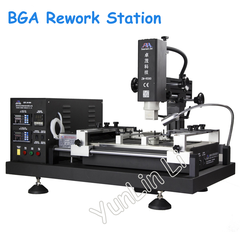 High-precision BGA Rework Station 220V 4800W Soldering Station Control Instrument BGA Repair Table ZM-R590 цены