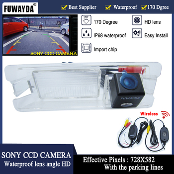 FUWAYDA Wireless SONY CCD Chip Car Rear View Parking Reverse DVD GPS Kits CAMERA for Nissan March Renault Logan Sandero image