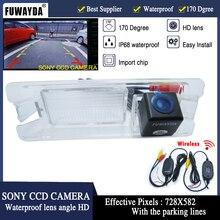 Fuwayda Беспроводной Sony CCD чип заднего вида Парковка Обратный DVD GPS Наборы камера для Nissan March Renault Logan Sandero