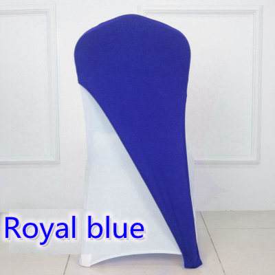 royal blue chair covers youtoo ergonomic colour hood for weddings spandex cover fit all chairs lycra cap stretch bow tie on sale