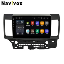 Navivox Android 7.1 10.1 inch Car Multimedia Player For Mitsubishi Lancer 2007-2015 Car DVD GPS Navigation Head Unit  Car Stereo
