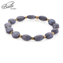 Badu Bright Red Stone Beads Bracelet for Women Faceted Boho Bracelets Girls Jewelry Holiday Party 5 Colors
