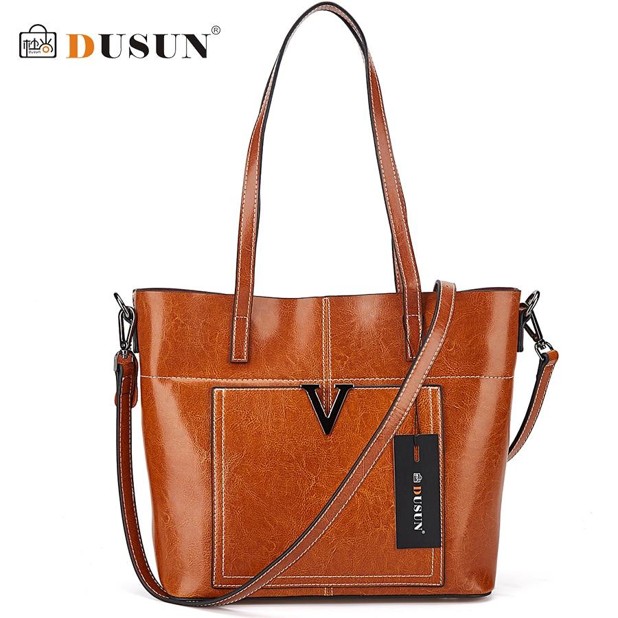 DUSUN Luxury Handbags Women Designer Genuine Leather Messenger Bag Female Vintage Fashion Crossbody Bags Woman Shoulder Bolsa