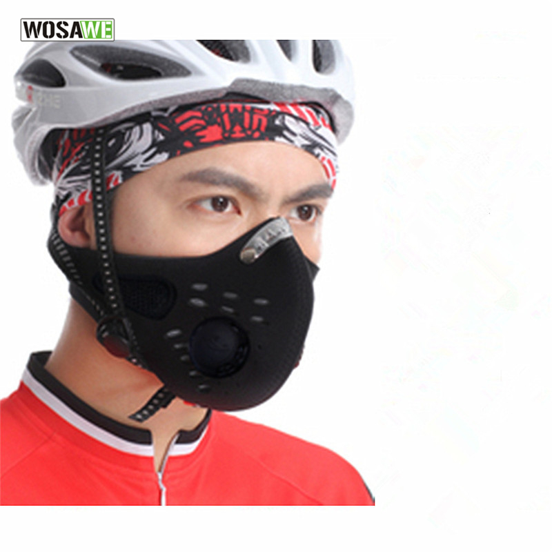WOSAWE Anti-pollution City Cycling Face Mask Mouth-Muffle Dust Mask Bicycle Sports Protect Moto Cycling Masks Cover Protective