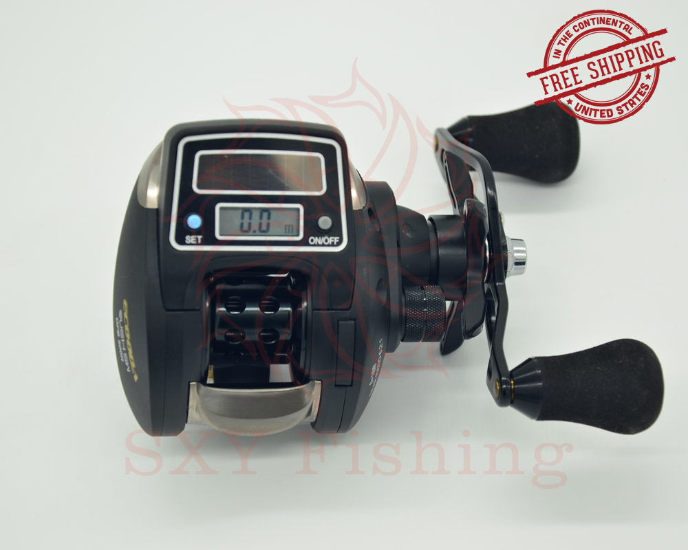 FREE SHIPPING OFB500 Electronic counting digital display fishing reel Low-Profile Reel lure fishing electric count wheel Reel free shipping siglent ssa3021x digital spectrum analyzer 9khz 2 1ghz low phase noise 10hz 3db rbw 10 1 display better rigol