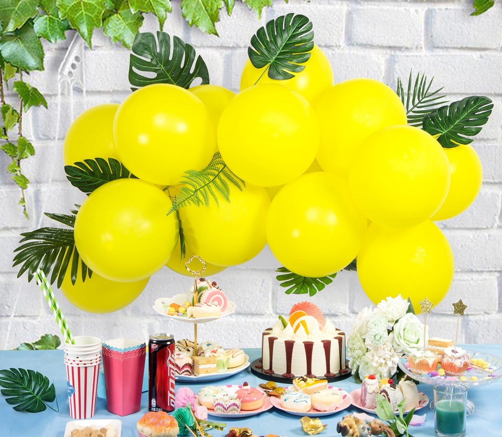 Hawaiian Summer Beach Party Decorations Green Yea and Yellow ...