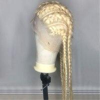 Блондинка 360 Синтетические волосы на кружеве al парик 613 Синтетические волосы на кружеве al парик прозрачного кружева русый Синтетические вол