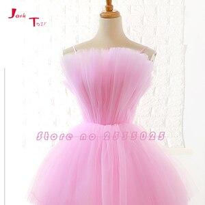 Image 5 - Jark Tozr תפור לפי מידה גבוהה נמוך שמלות נשף Vestido דה Festa  סין ורוד פורמליות שמלות Ballkleider