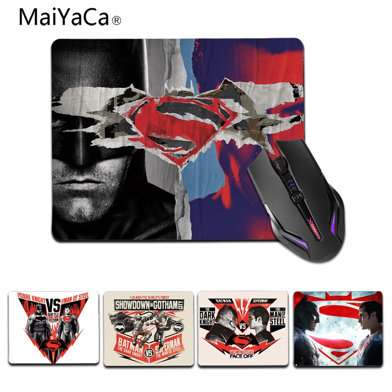 MaiYaCa Cool New Batman v Superman Office Mice Rubber Mouse Pad small Size For 18x22cm 25x29cm Rubber Mousemats